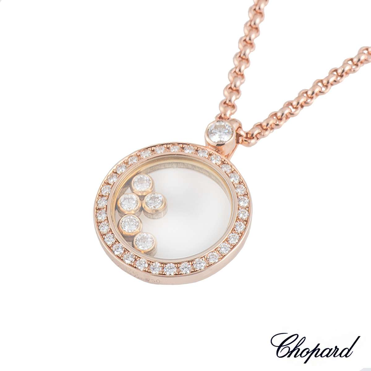 Chopard happy diamonds rose gold pendant rich diamonds of bond street chopard happy diamonds rose gold pendant aloadofball